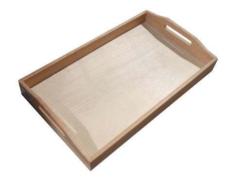 Vassoio Bombato legno grezzo